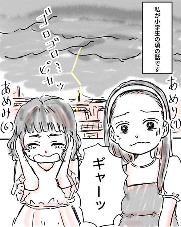 「かみなりさま」【Lovely漫画】